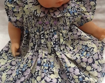 Clothing, dress has smocked Liberty Wiltshire doll 30 cm