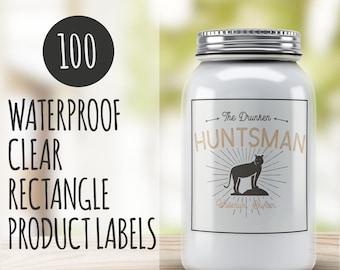 Custom product label - 100 Clear Custom labels  - Product packaging - Custom packaging Clear Custom labels