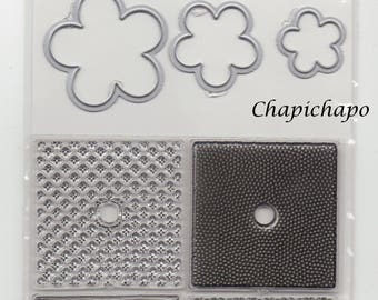 Clear Stamps and Dies flower ~ clear stamps and die cuts ~ Scrapbooking hobby