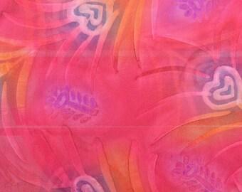 Polyester Crepe Fabric, Georgette Fabric, Batik Fabric, Sheer Fabric, Lightweight Fabric, Dress Fabric - 2 1/2 Yards - SF2365