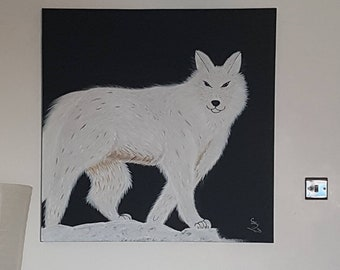 The guardian white wolf