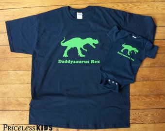 matching dad and baby shirts, fathers day, father and son matching shirts, daddysaurus, babysaurus, new dad gift, fathers day gift