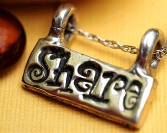 Share Word Necklace Jewelry Sterling Silver Personalized