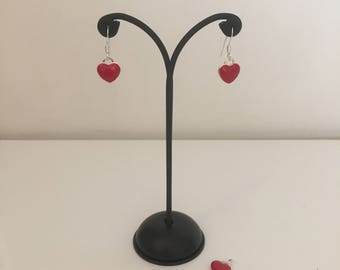 925 Silver earrings with hearts