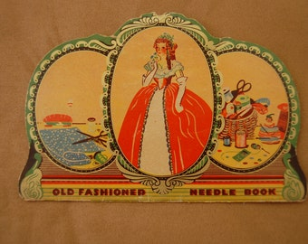 Vintage Old Fashioned Needle Book Embroidery Needlework Sewing