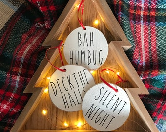 Farmhouse Ornaments | Rae Dunn Inspired Christmas | Rae Dunn Ornament | Farmhouse Christmas | Rustic Christmas | Farmhouse Style | Custom