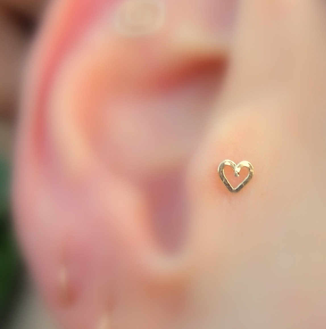Tragus Earring Nose Ring Stud Cartilage Earring 14K Solid