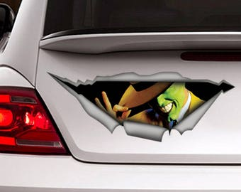 The Mask Jim Carrey Decal, mask sticker , Vinyl Decal, Car Decal, funny decal, Laptop Decal, 3D sticker