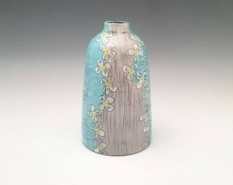 Large Ceramic Bottle Vase, Bud Vase, Statement Vase, Pottery Bottle for Entryway, Centerpiece Vase, Modern Ceramic Art