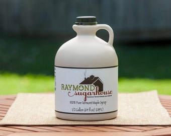 2018 1/2 GALLON 100 Percent Pure Vermont Maple Syrup with FREE SHIPPING