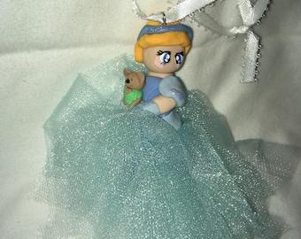 Cinderella Polymer Clay Christmas Ornament Tree