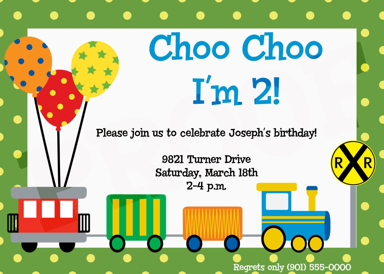 Train Birthday Train Party Train Invitation Train Birthday