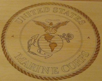 Marine Keepsake Box,Coast Guard , Army , Marines , Navy , Air Force