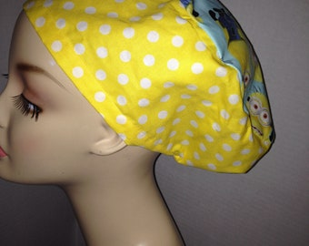 Minions Euro OR Scrub Hat Combo We Polka dots