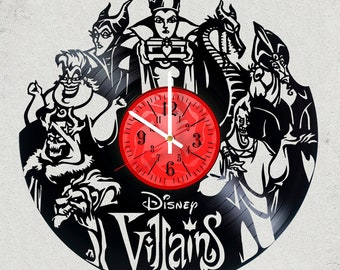 DISNEY Villains MOViE wall clock SIZE 12 INCHES gift for kids gifts for girls disney gifts tshirt present alternative disney the best