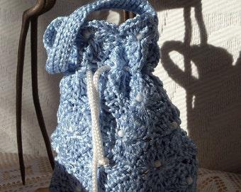Frosted stars - elegant crochet purse - crochet pattern