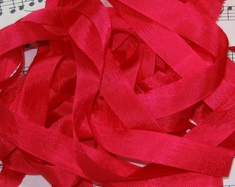 Really Red Seam Binding Silky Rayon Seam Binding Ribbon - 9 yards PSS 0550