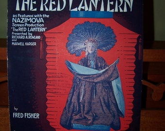 The Red Lantern Vintage sheet music 1919 sheet music Collectible sheet music Cover Art