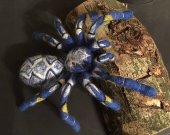 Needle Felted Gooty Sapphire Ornamental Tarantula