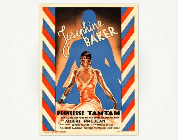 Josephine Baker Movie Poster Print Princess Tam-Tam Vintage