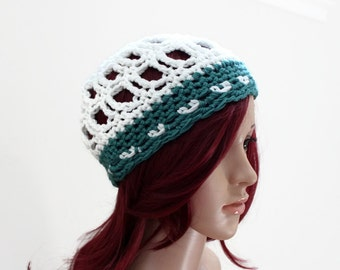 Beachside Beanie in Exclusive Cotton/Bamboo Yarn