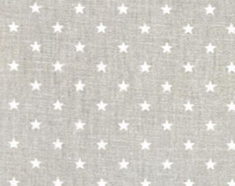 "Premier Prints Fabric-Mini Star-French Gray Twill-or-Choice of 23 Colors -54"" wide-Decorator Cotton-Fabric By The Yard"