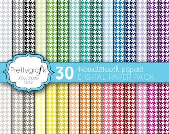 80% OFF SALE houndstooth digital paper, commercial use, scrapbook papers, background - PS576