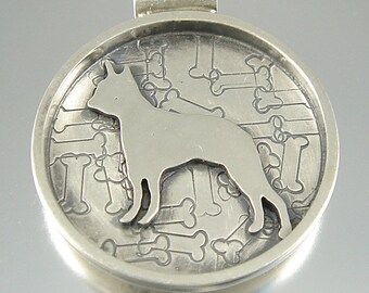 I Love My Boston Terrier Sterling Necklace