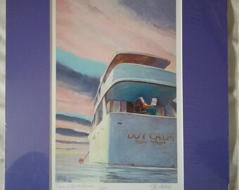 Print, watercolor-Dawn Of The Millennium