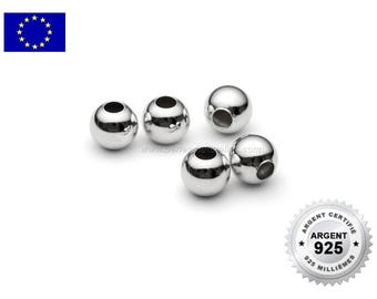 925 Silver - 2/3/4/5/6/8/10mm - 1/10/100 Beads