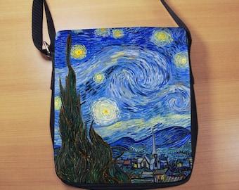 Van Gogh Starry Night Small Shoulder Bag, Vangogh, Small Crossbody Bag, Small CrossBody Purse, Cross Body Bag, Sling Bag, Small Purse, Bag
