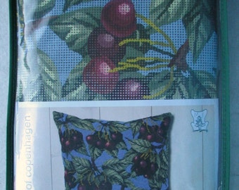 Permin Of Copenhagen Cherries Needlepoint/Tapestry Kit