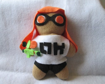 Splatoon inspired Inkling Girl plush
