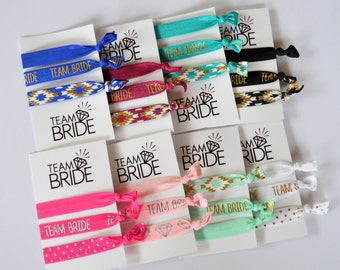 Team Bride Hair Ties - Bachlorette Hair Ties