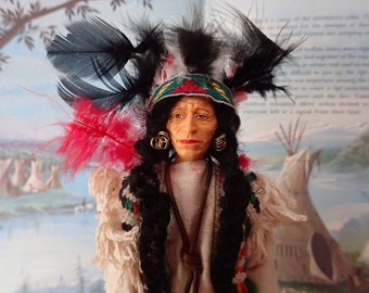 1950's Peggy Nisbet Red Indian Warrior doll