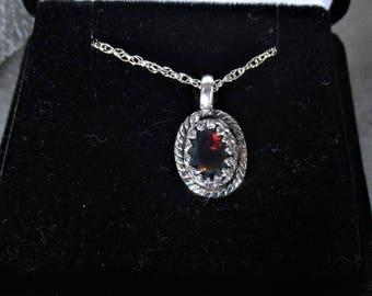 Smoked Ethiopian opal gemstone in handmade sterling silver pendant necklace  - opal necklace - opal pendant - opal jewelry