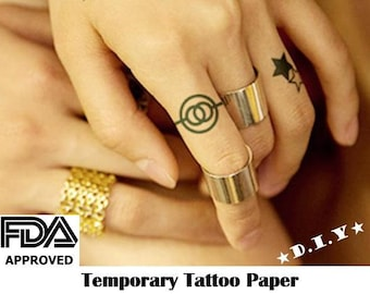 DIY Temporary Tattoo Paper, Inkjet or Laser Compatible, Free Gift / FDA certified Medical Adhesive