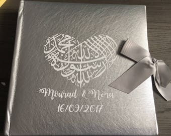 Guest book | Photo Album | Nikah gift | Muslim Wedding | Handmade | Satin Ribbon | Wedding gift | Engagement gift | Couple gift |