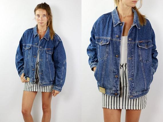 Denim Jacket Vintage Denim Jacket Oversize Jean Jacket 90s Denim Jacket 90s Jean Jacket Blue Jean Jacket Large Denim Jacket Grunge JJ221