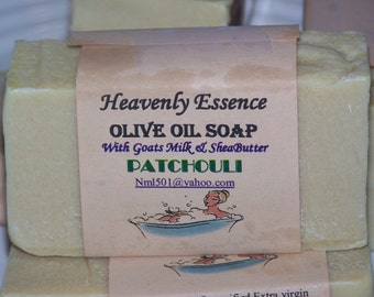 Patchouli olive oil goat milk soap with Shea butter