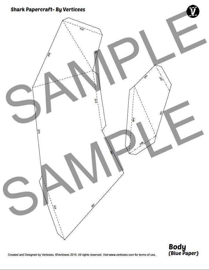 Shark Papercraft PDF Pack - 3D Paper Sculpture Template with ...