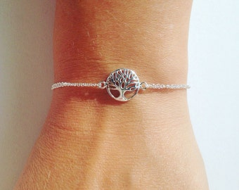 Tree of life bracelet, sterling silver bracelet, family tree bracelet, sterling silver tree, friendship bracelet