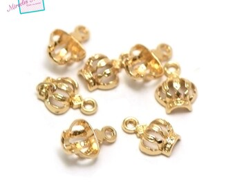 """charms 20 """"wreath"""" 12 x 9 x 4 mm, gold 002"""