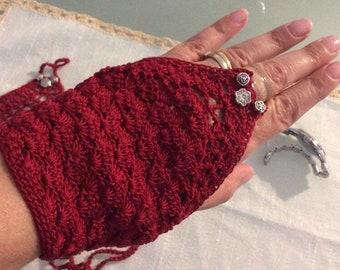 Cotton Ring Gloves, fingerless gloves, mittens