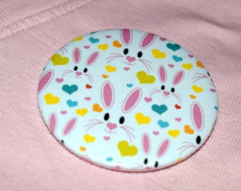 Easter Bunny pin badge button badge
