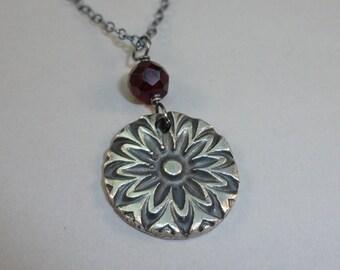 Garnet Burst Necklace