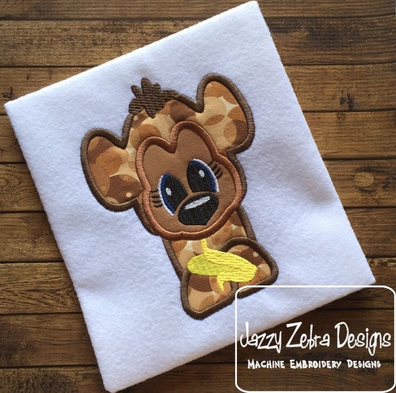 Monkey 105 Appliqué Embroidery Design - monkey appliqué design - jungle appliqué design - zoo appliqué design