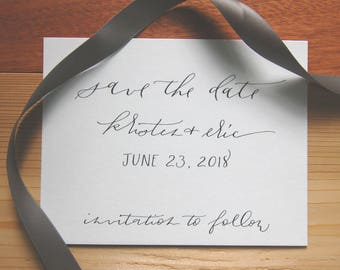 Save the Date Cards : Handwritten