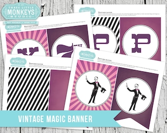 Vintage Magic Personalized Banner