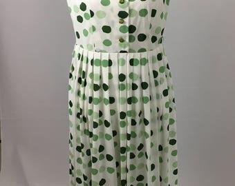 1950's Casualmaker by Sy Frankl Polka Dot Dress